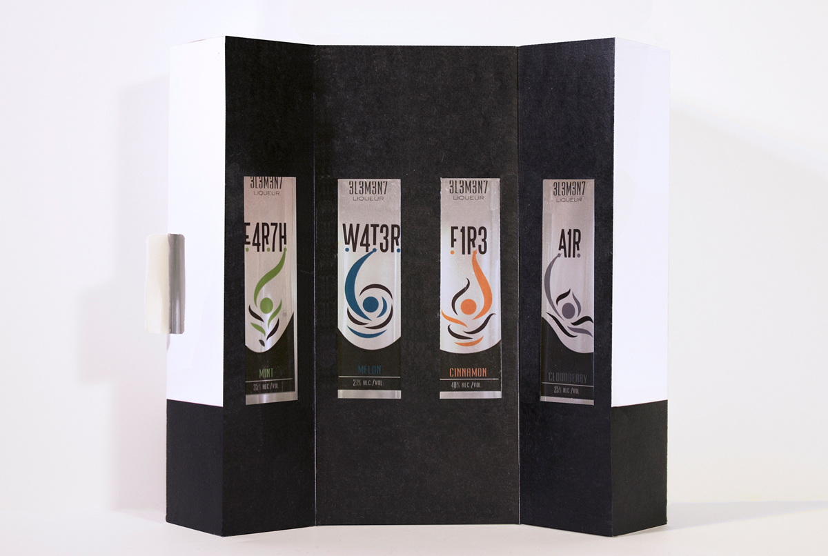 3L3M3N7 Liqueur Packaging — Izzy Cuibus | Graphic Design