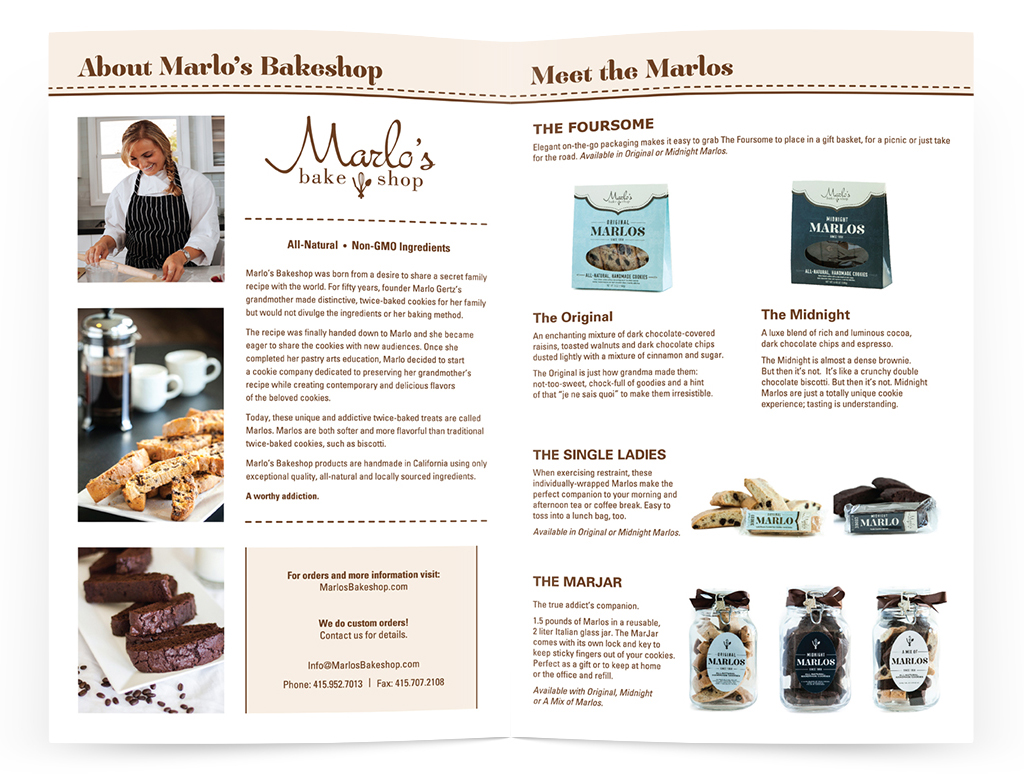 Marlo's Bake Shop Brochure — Izzy Cuibus | Graphic Design