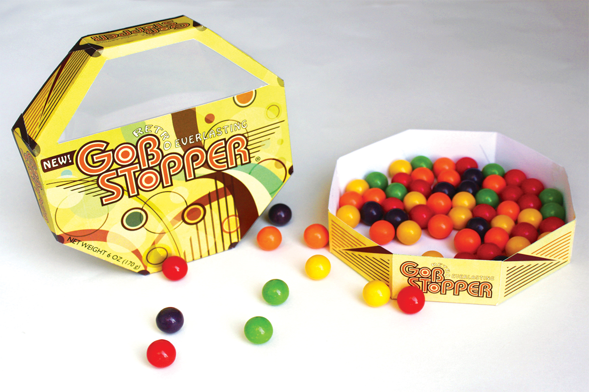 Retro Gobstoppers Packaging — Izzy Cuibus | Graphic Design