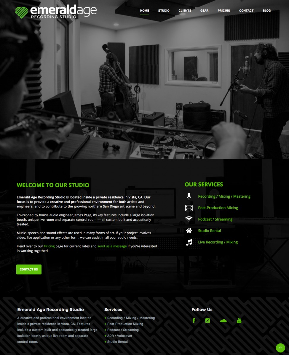 Emerald Age Recording Website