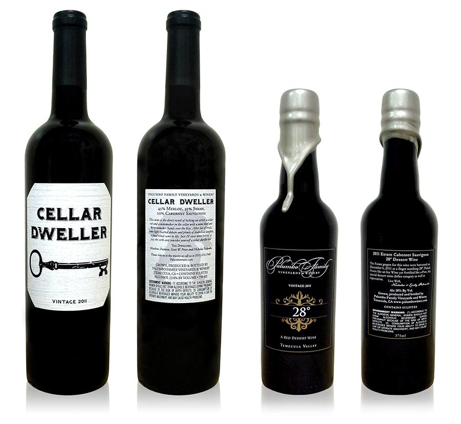 Palumbo Wine Labels Izzy Cuibus Graphic Design